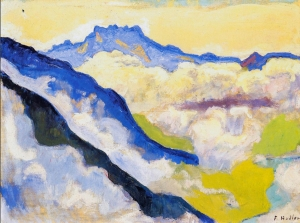 Dents du Midi in Clouds 1917